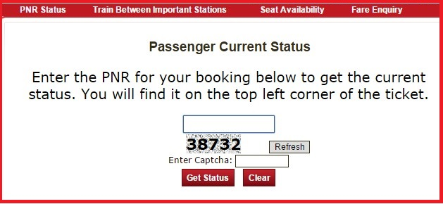 Indian railway ticket reservation enquiry