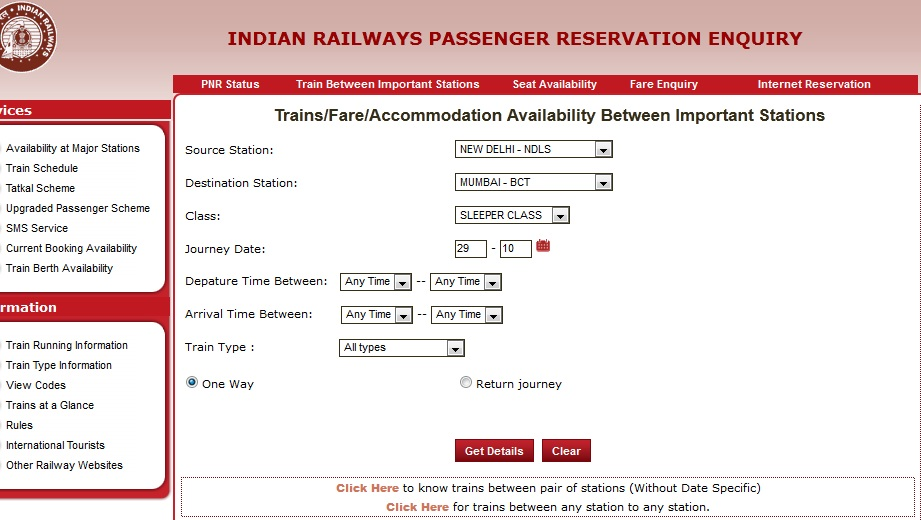 official indian railway