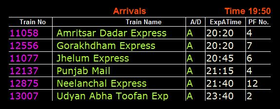 train-platform-information
