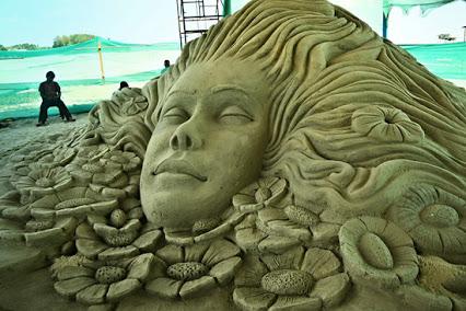 Sand art festival konark