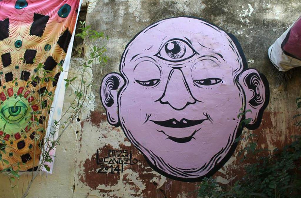 Pushkar cafe culture graffiti